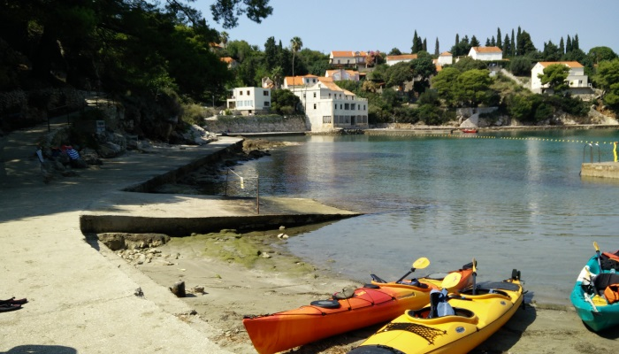 a picture of kayaks in Croatia
