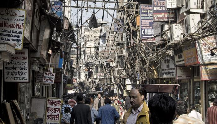 picture of the street Chandni Chowk