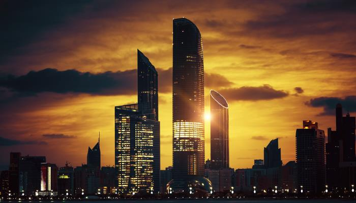 picture of abu dhabi skyline