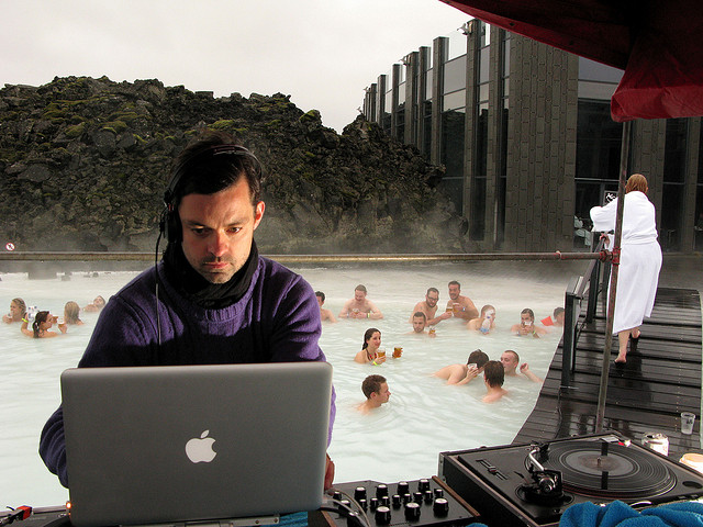 picture of a dj at the blue lagoon